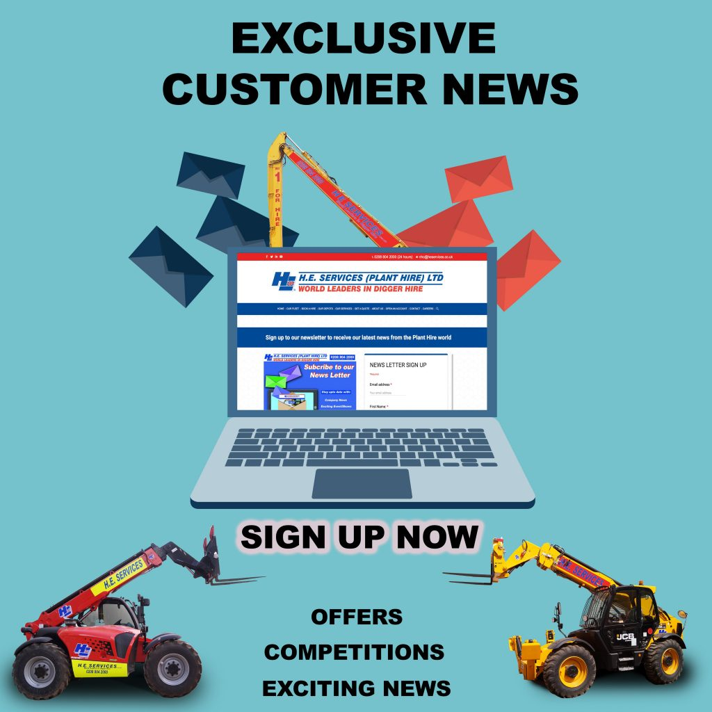 Plant Hire newsletter Sign up