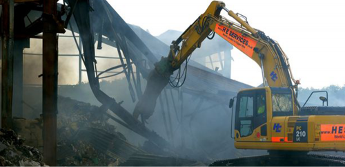 22 ton Excavator with Shears Demolition