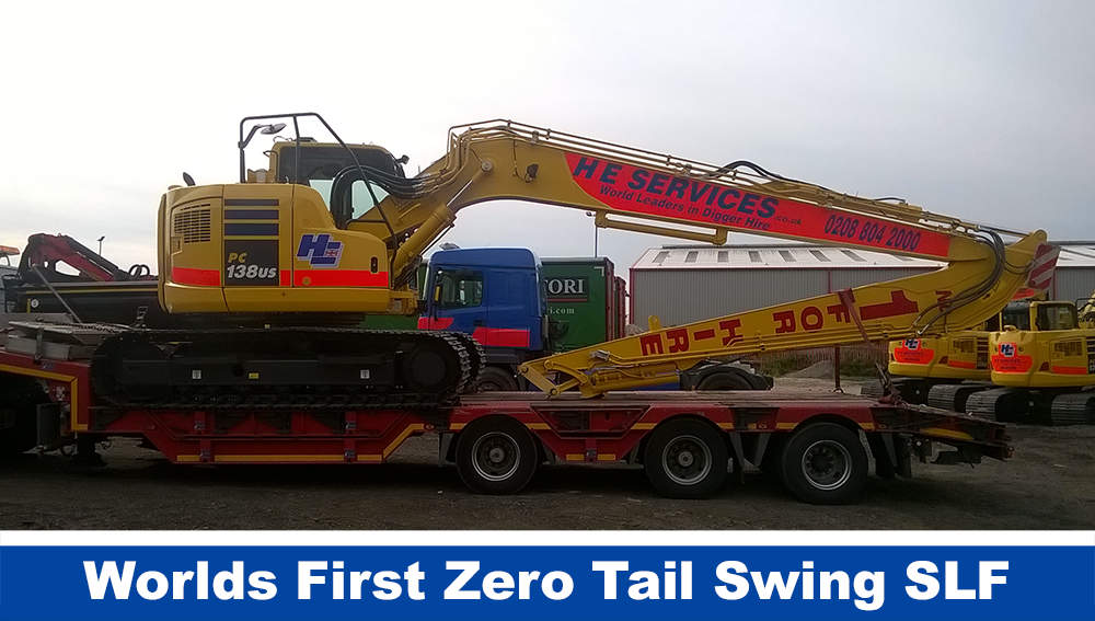 Zero Tail Swing Diggers