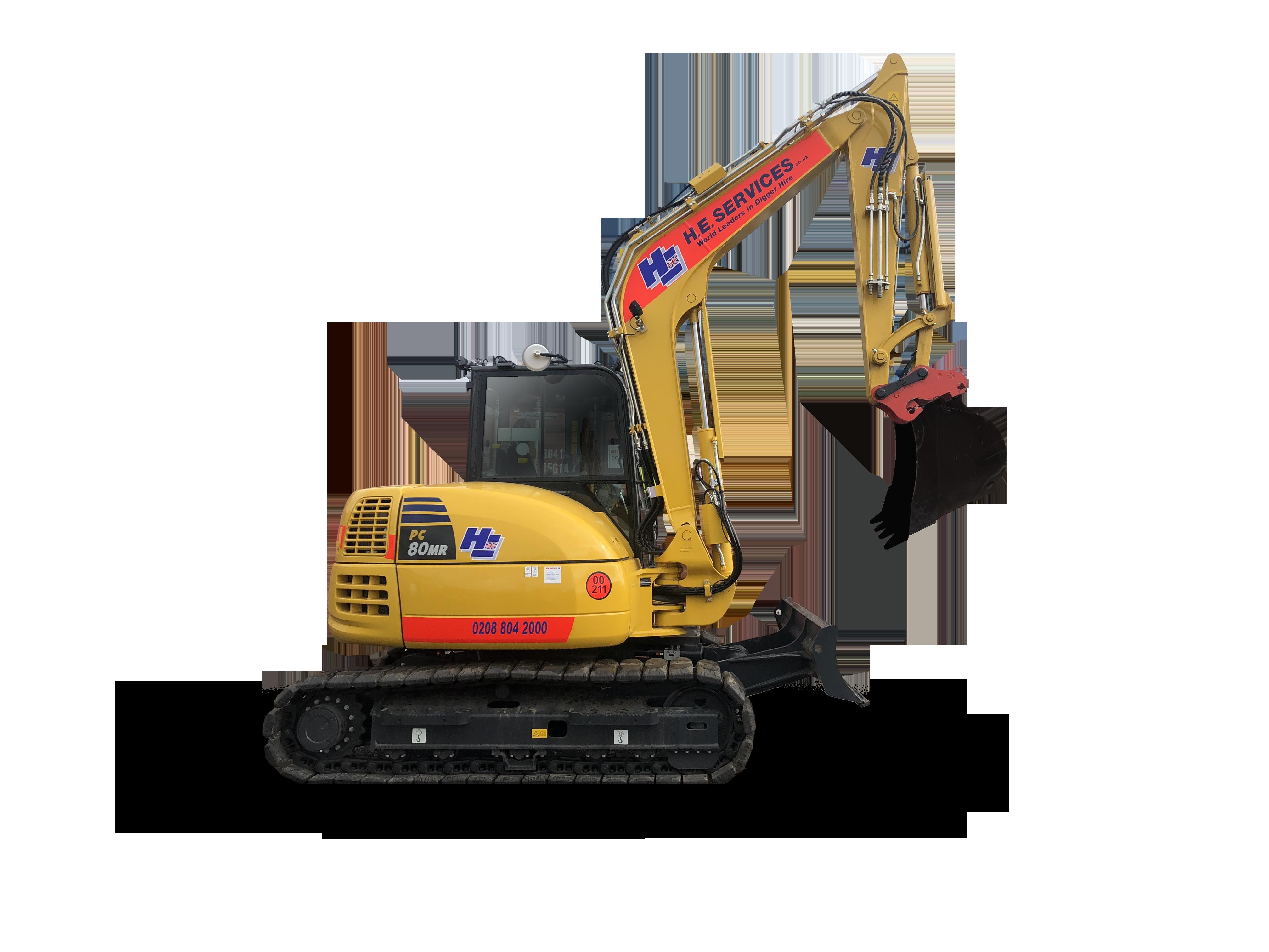 8 Ton Excavator Midi Digger hire