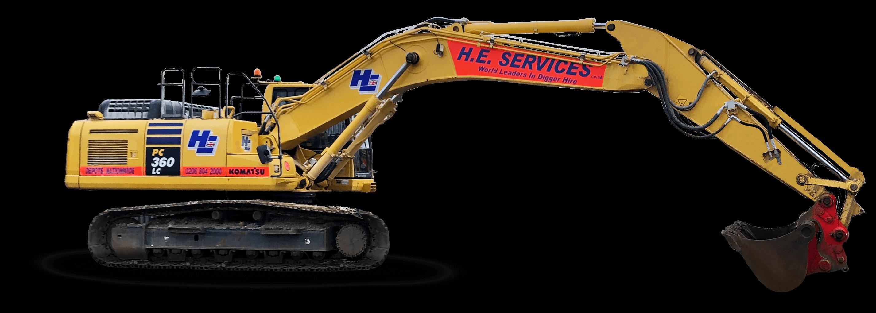36 Ton excavator hire