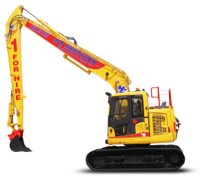 SR12 Long Reach Model: Komatsu PC 138-10 Super Long Reach Digger Hire