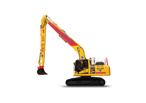 SR15 Long Reach digger hire Model: Komatsu PC 210 Super Long Reach