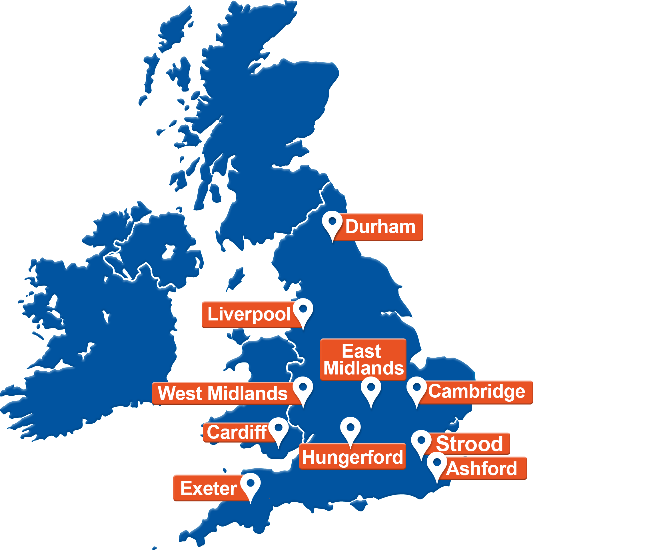 UK Map H.E. Services Depot