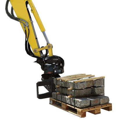 Excavator Mounted Pallet Forks H.E.Services