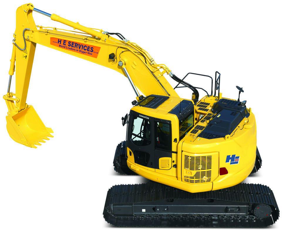 22 Ton Excavator Zero Tail Swing Komatsu H.E. Services